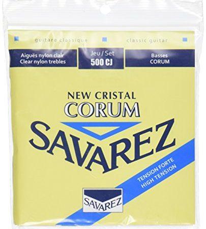 Savarez-500CJ-Corum-Cristal-Classical-Guitar-Strings-High-Tension-Blue-Card-0