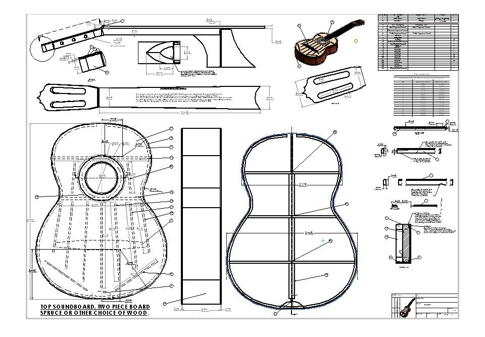 jose ramirez classical guitar blueprint plans design drawings full scaleedit sheet music daily. Black Bedroom Furniture Sets. Home Design Ideas
